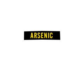 Arsenic: Skin cancer, bladder cancer, lung cancer.