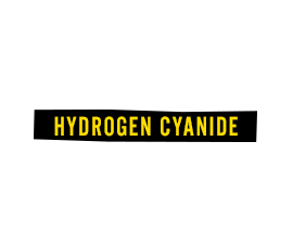 Nydrogen Cyanide: Parkinson's disease,  hallucinations, cardiac arrest, death.