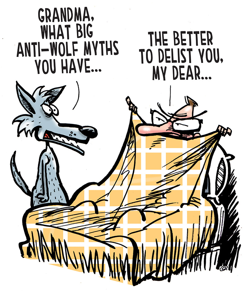 See the cartoon: Form an Anti-Wolf Pack.